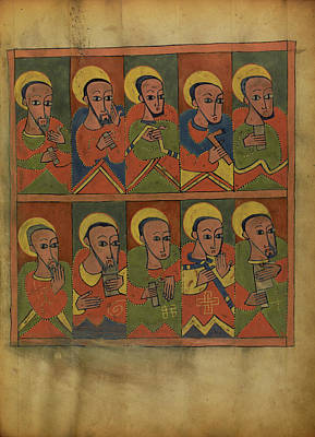 The Seventy-two Disciples Unknown Ethiopia Poster by Litz Collection