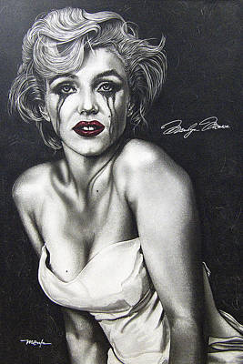 Poster featuring the painting The True Marilyn by Dan Menta