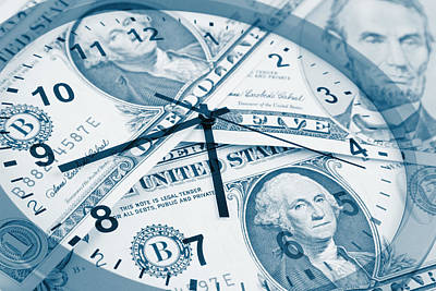 Time Is Money Concept Poster by Les Cunliffe