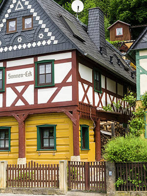 Traditional Half-timbered Buildings Poster by Martin Zwick