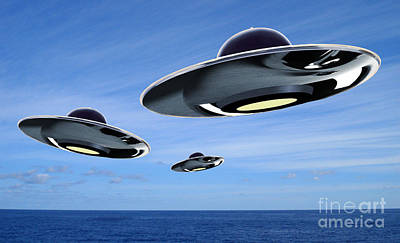 Ufo Poster by Spencer Sutton