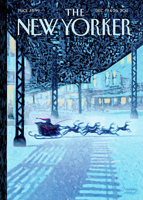 New Yorker December 19th, 2011 Poster by Eric Drooker