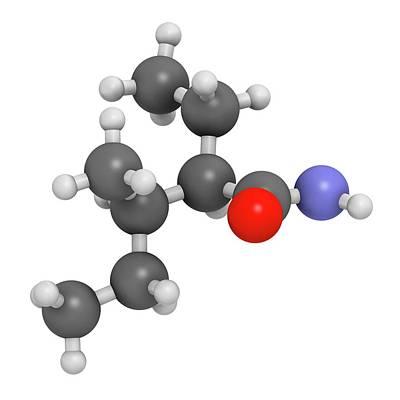 Valnoctamide Sedative Drug Molecule Poster by Molekuul