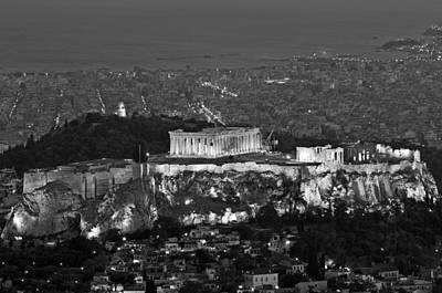 View Of Acropolis From Lycabettus Hill Poster by George Atsametakis