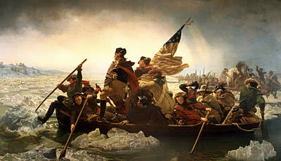 Poster featuring the photograph Washington Crossing The Delaware by Emanuel Leutze