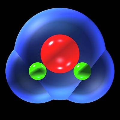 Water Molecule Poster by Russell Kightley