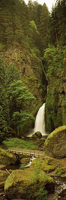 Waterfall In A Forest, Columbia River Poster by Panoramic Images