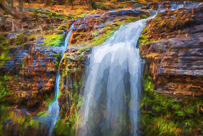 Waterfalls George W Childs National Park Painted    Poster