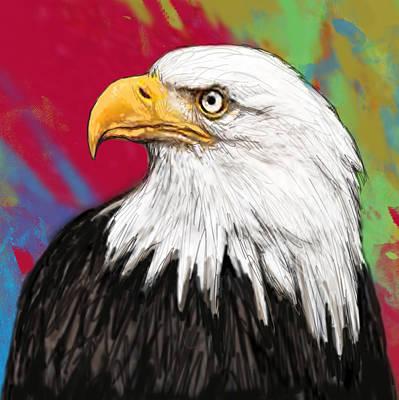 Wild Animal Stylised Pop Art Drawing Potrait Poser Poster