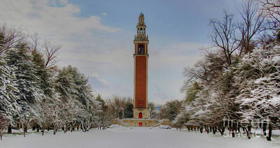Winter At The Carillon Poster by Kelvin Booker