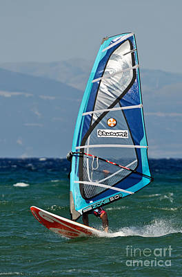 Windsurfing Poster by George Atsametakis