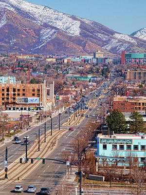 Poster featuring the photograph 400 S Salt Lake City by Ely Arsha