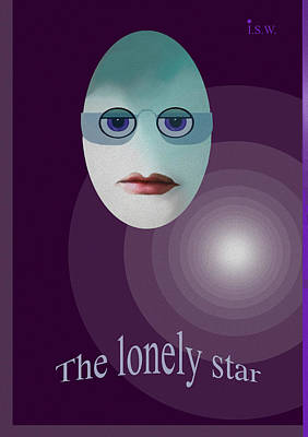 422 - The Lonely Star Poster by Irmgard Schoendorf Welch