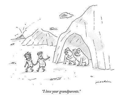 I Love Your Grandparents Poster by Michael Maslin