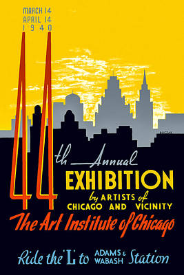 44th Annual Exhibition By Artists Of Chicago And Vicinity Poster