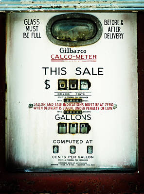 45 Cents Per Gallon Poster by Rebecca Sherman