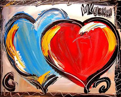 Hearts Poster by Mark Kazav