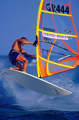 Windsurfing Poster by George Atsametakis