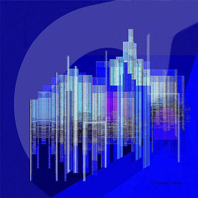 462 - Big City Abstract ... Poster