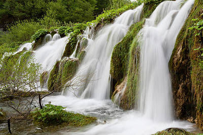 The Plitvice Lakes In The National Park Poster