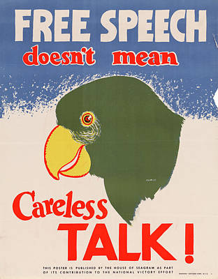 Poster featuring the drawing Wwii Poster, C1943 by Granger