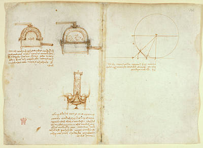 Drawings By Leonardo Da Vinci Poster by British Library