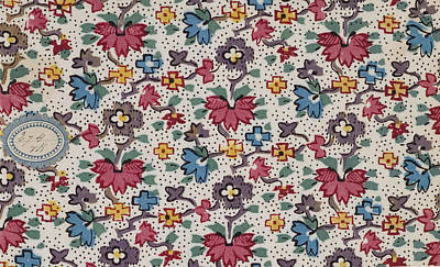 French Fabrics First Half Of The Nineteenth Century 1800 Poster