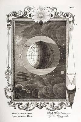 4th Day Of Creation, Scheuchzer, 1731 Poster