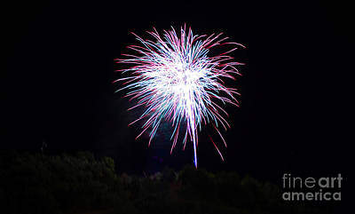 4th Of July 2014 Fireworks Bridgeport Hill Clarksburg Wv 14 Poster by Howard Tenke