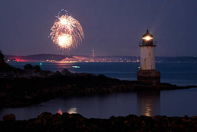 4th Of July Illumination Poster by Jeff Folger