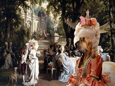 Bloodhound Art Canvas Print  Poster