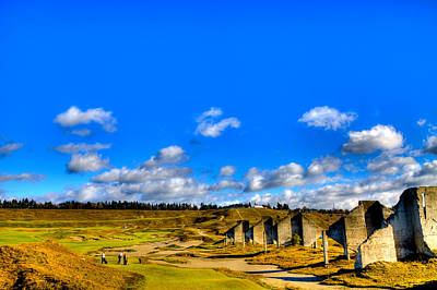 #18 At Chambers Bay Golf Course  Poster by David Patterson