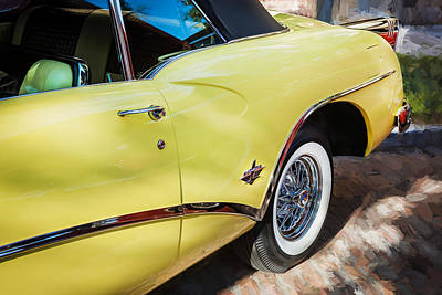 1954 Buick Skylark Convertible Painted  Poster by Rich Franco