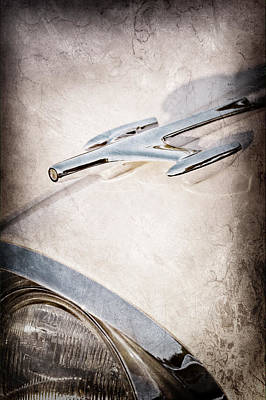 1957 Oldsmobile Hood Ornament Poster by Jill Reger