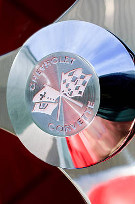 1960 Chevrolet Corvette Steering Wheel Emblem Poster