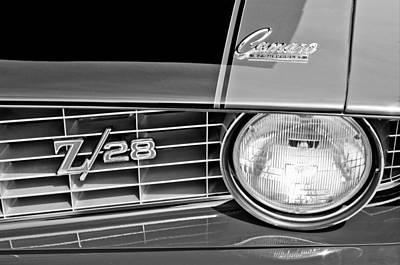 1969 Chevrolet Camaro Z 28 Grille Emblem Poster by Jill Reger