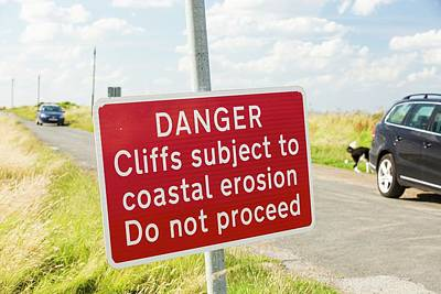 A Collapsed Coastal Road Near Aldbrough Poster