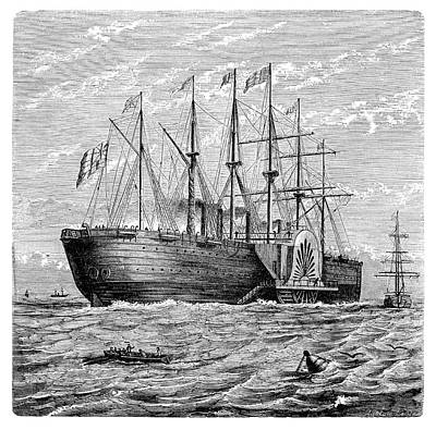 Atlantic Telegraph Cable Laying Poster by Science Photo Library
