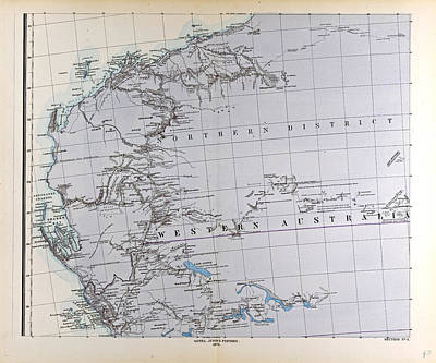 Australia Map Gotha Justus Perthes 1872 Atlas Poster by Australian School