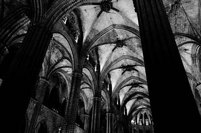 Barcelona - The Cathedral  Poster by Andrea Mazzocchetti