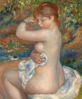 Bather Poster by Pierre Auguste Renoir