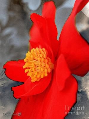 Begonia Named Nonstop Mocca Scarlet Poster by J McCombie