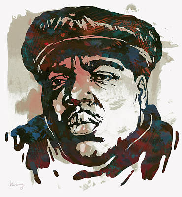 Biggie Smalls Modern Art Drawing Poster Poster by Kim Wang