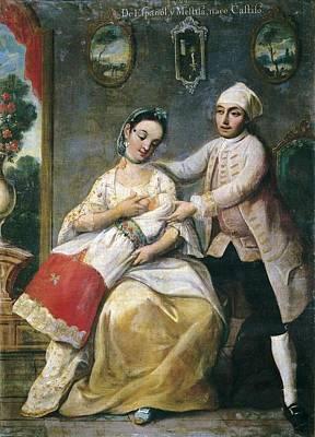 Cabrera, Miguel 1695-1768. Castes. From Poster