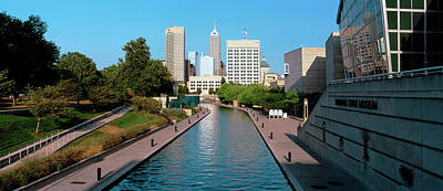 Canal In A City, Indianapolis Canal Poster by Panoramic Images