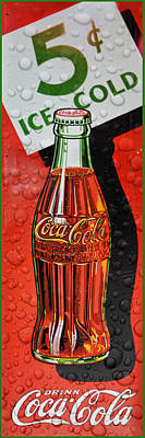 5 Cent Coca-cola From 1886 - 1959 Poster by Douglas MooreZart