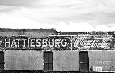 Coca Cola Sign On The Side Of A Brick Building In Hattiesburg Mi Poster