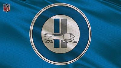 Detroit Lions Uniform Poster by Joe Hamilton