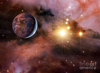 Earthlike Alien Planet, Artwork Poster