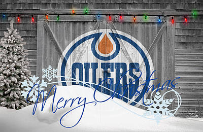 Edmonton Oilers Poster by Joe Hamilton